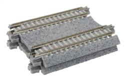 """Kato N 20-042 Unitrack Concrete Tie Double Track Straight 2 7/16"""" 62mm"""