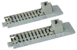 """Kato N 20-046 Unitrack Straight Track with Bumper 'A' 62mm 2 7/16"""" 2-Pack"""