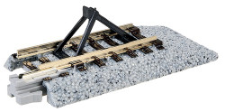 """Kato N 20-048 Unitrack Straight Track with Bumper 'C' 50.5mm 2.0"""" 2-Pack"""