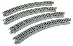 "Kato N 20-170 Unitrack Curved Track 216mm 8 1/2"" Radius - 45 degrees 4 pieces"