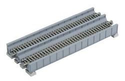Kato N 20-457 Unitrack Double Track Plate Girder Bridge with Track Gray (7 5/16) 186mm