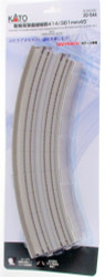 """Kato N 20-544 Unitrack Concrete Tie Double Viaduct Track with Superelevated Curve 414/381mm 16 5/16"""" /15"""" Radius 45 Degrees 2 pieces"""