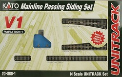 Kato Unitrack N Scale 208601 V1 Mainline Passing Siding Set