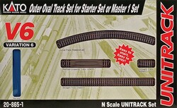 Kato Unitrack N Scale 208651 V6 Outside 13 3/4 inch Radius Loop Track Set