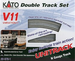 Kato Unitrack N 20-870-1 V11 Double Track Set