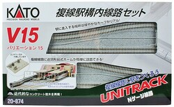 Kato N Scale Unitrack(R) V15 Double Track Set for Station (Japanese Packing)