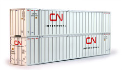 Kato HO 30-9027 53' Container with Magnets 2-Pack Canadian National CN #235321, #235416