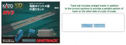 Kato HO Unitrack 3-113 HV3 Interchange Track Set with No. 4 Electric Turnouts