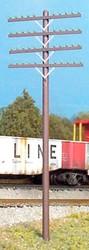 RIX HO 628-0034 Railroad Telephone Poles - Four Crossarm Kit - 12 Poles
