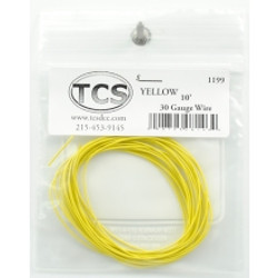 Train Control Systems TCS 1199 10' of 30 Gauge Wire - Yellow