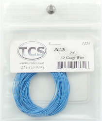Train Control Systems TCS 1201 10' of 30 Gauge Wire - Blue