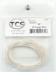 Train Control Systems TCS 1204 10' of 30 Gauge Wire - White