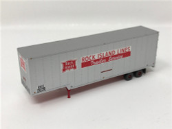 Trainworx N 40343-08 40' Drop Frame Trailer Rock Island RI #207282