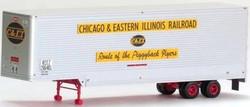 Trainworx HO 80303-01, 40' Drop Frame Trailer, Chicago & Eastern Illinois C&EI #206481