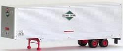 Trainworx HO 80306-05 40' Drop Frame Van Trailer, Illinois Central #208713