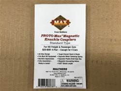 Walthers Proto 920-6001 MAX Magnetic Knuckle Couplers -- Standard Type 4 Pair