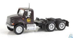 Walthers SceneMaster 949-11185 International 4900 Dual-Axle Semi Tractor Only - Assembled - United Parcel Service UPS (Modern Shield Logo; brown, yellow)