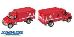 Walthers SceneMaster HO 949-11931 International 4300 EMS/Ambulance Red