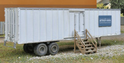 Walthers Scene Master HO Scale Plastic Structure Kit, Construction Site Mobile Storage Trailer