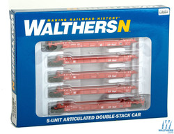 Walthers N 9298102 Thrall 5-Unit Articulated 48' Well Car - Canadian Pacific CP #524328