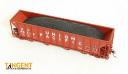 Tangent Scale Models 10811-48 HO Bethlehem Steel 3600 cuft Quad Hopper Union Pacific Original H-100-16 UP#40003