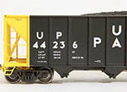 Tangent Scale Models HO 10813-30 Bethlehem Steel 3600 cu ft Quad Hopper Union Pacific Original H-100-17 UP #44339