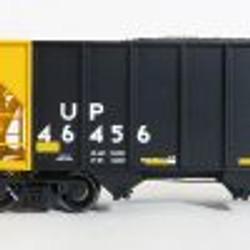 Tangent Scale Models 10872-01 HO Bethlehem Steel 3600 cuft Quad Hopper Union Pacific Scheme 23, H-100-19 Black Repaint Conspicuity 2005+  UP#46456