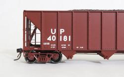 Tangent Scale Models 10864-01 HO Bethlehem Steel 3600 cuft Quad Hopper Union Pacific 1989 H-100-16 Red Repaint UP #40181