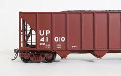 Tangent Scale Models 10865-01 HO Bethlehem Steel 3600 cuft Quad Hopper Union Pacific 1982 H-100-19 Red Repaint UP #41010