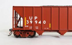 Tangent Scale Models 10869-01 HO Bethlehem Steel 3600 cuft Quad Hopper Union Pacific Scheme 20, H-100-16 Red Repaint Conspicuity 2005+  UP#39940