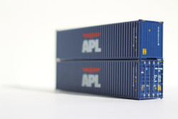Jacksonville Terminal Company N 405003 40' High Cube  Container American President Lines APL Blue Scheme 2-Pack