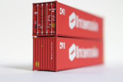 Jacksonville Terminal Company N 405007 40' High Cube  Container CAI - INTERASIA Brown Lease Scheme 2-Pack