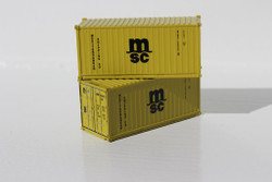 Jacksonville Terminal Company N 205307 20' Standard Height Container MEDITERRANEAN SHIPPING COMPANY MSC 2-Pack