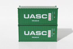Jacksonville Terminal Company N 205310 20' Standard Height Container UASC 2-Pack