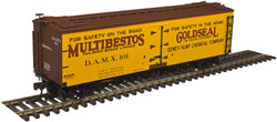Atlas Master HO 20004739 40' Wood Reefer Multibestos/Gold Seal #104