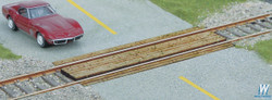 Walthers SceneMaster HO 949-4158 Wood Grade Crossing - Single - Laser Cut Wood Kit