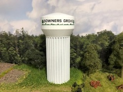 Lombard Hobbies Exclusive - N Scale Water Tower - Assembled