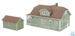 Walthers Cornerstone HO 933-3791 Updated American Bungalow with Garage - Kit