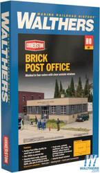 Walthers Cornerstone HO 933-4200 Brick Post Office - Kit