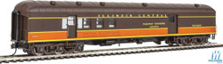 Walthers Proto HO 920-17402 70' Heavyweight Railway Post Office - Baggage Illinois Central IC Arch Roof
