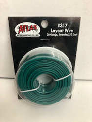 Atlas N/HO #317 Layout Wire 20 Gauge Stranded 50 feet Green