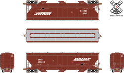 ScaleTrains HO Operator SXT10545 Gunderson 5188 cf Covered Hopper Burlington Norther Santa Fe BNSF Wedge #488634