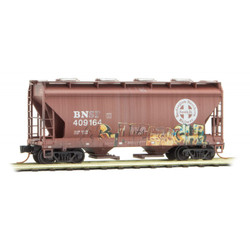Micro Trains Line 092 44 430 2-Bay Covered Hopper  Weathered Burlington Northern Santa Fe #409164