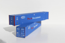 Jacksonville Terminal Company N 535011 53' High Cube Container PACER StackTrain 2-Pack