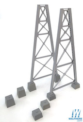 Walthers Cornerstone  HO 933-4555 Steel Railroad Bridge Tower Bent 2 Pack - Kit