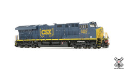 ScaleTrains Rivet Counter HO SXT31097 DCC Ready GE Tier 4 GEVo ET44AH CSX Boxcar Logo CSX #3413