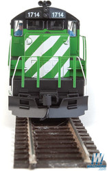 Walthers Mainline HO 910-20402 EMD GP9 Phase II with Chopped Nose Locomotive with ESU Sound & DCC Burlington Northern BN #1714