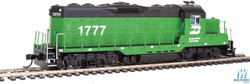 Walthers Mainline HO 910-20403 EMD GP9 Phase II with Chopped Nose Locomotive with ESU Sound & DCC Burlington Northern BN #1777