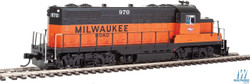 Walthers Mainline HO 910-20408 EMD GP9 Phase II with Chopped Nose Locomotive with ESU Sound & DCC Milwaukee Road Milw #970