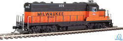 Walthers Mainline HO 910-20409 EMD GP9 Phase II with Chopped Nose Locomotive with ESU Sound & DCC Milwaukee Road Milw #975